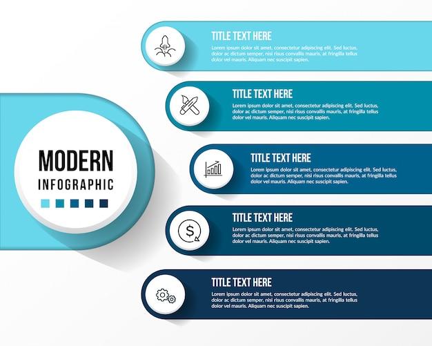 Infográfico moderno com mesa 3d Vetor Premium