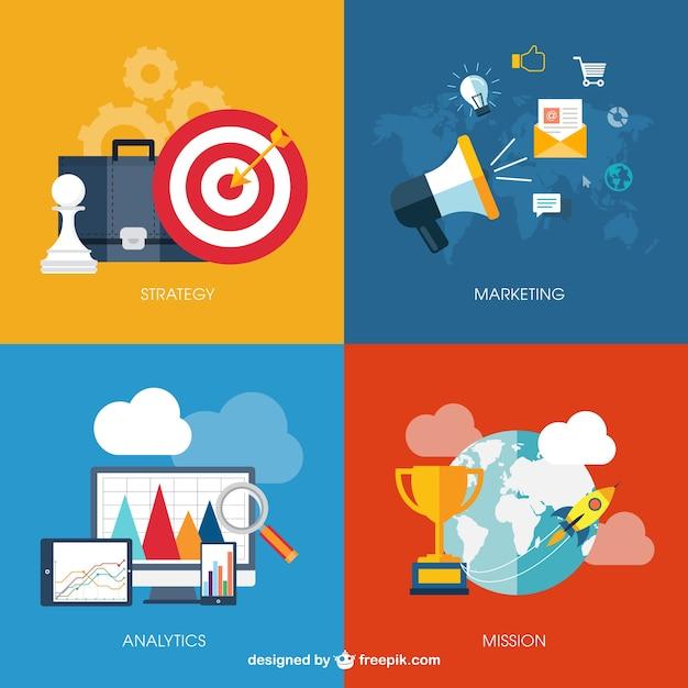 Infográfico negócios com ícones Vetor grátis