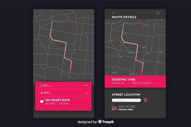 Infográfico para aplicativo móvel em execução Vetor grátis