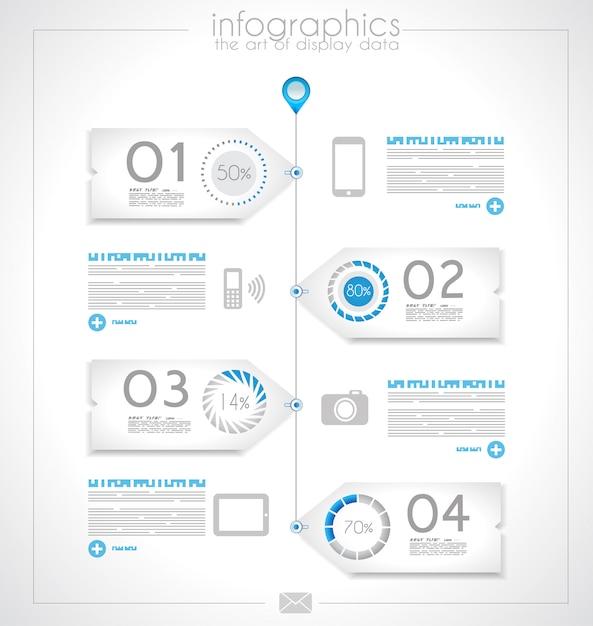 Infográfico para classificação do produto Vetor Premium