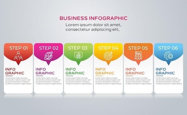 Infográfico passos coleção Vetor Premium