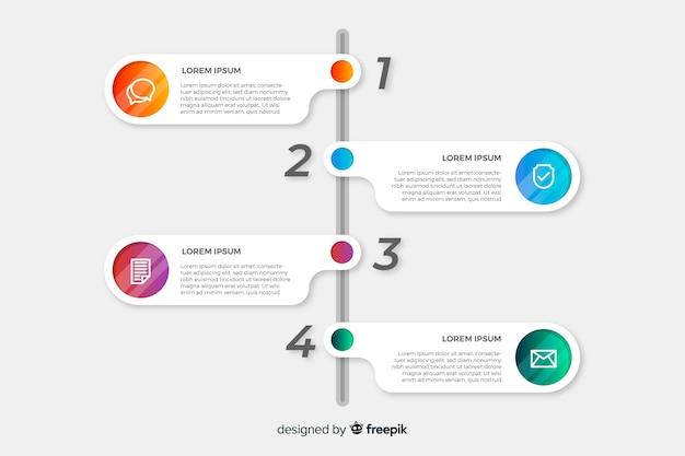 Infográfico passos design plano de coleção Vetor grátis