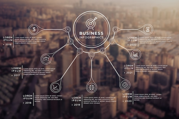 Infográfico profissional com foto Vetor grátis