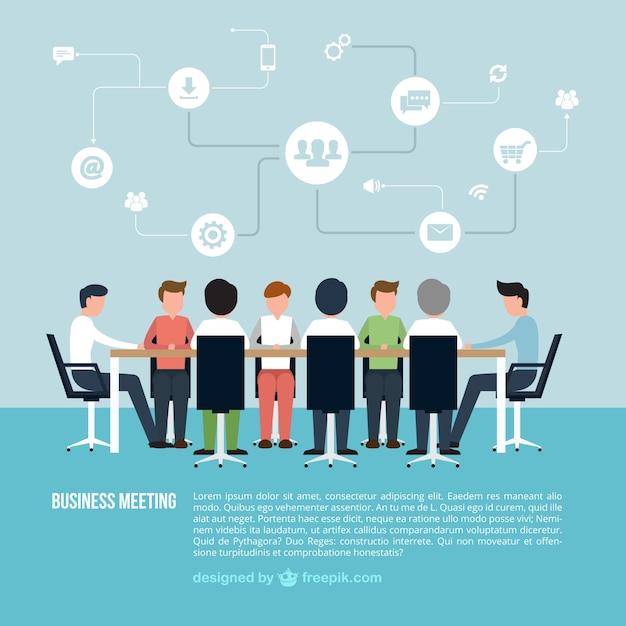 Infográfico reunião de negócios Vetor grátis