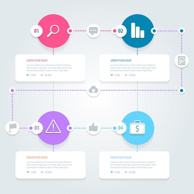 Infográfico Vetor Premium