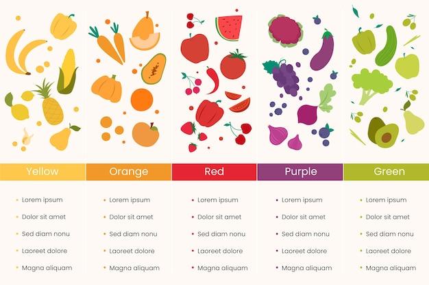 Infográficos comem um conceito de arco-íris Vetor grátis