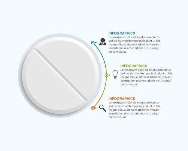 Infográficos de medicamentos para publicidade Vetor Premium