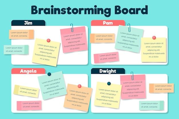 Infográficos do quadro de brainstorming Vetor Premium