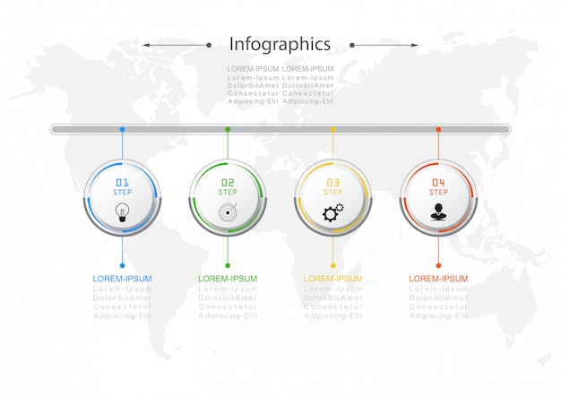 Infographic design vector conceito de negócio Vetor Premium