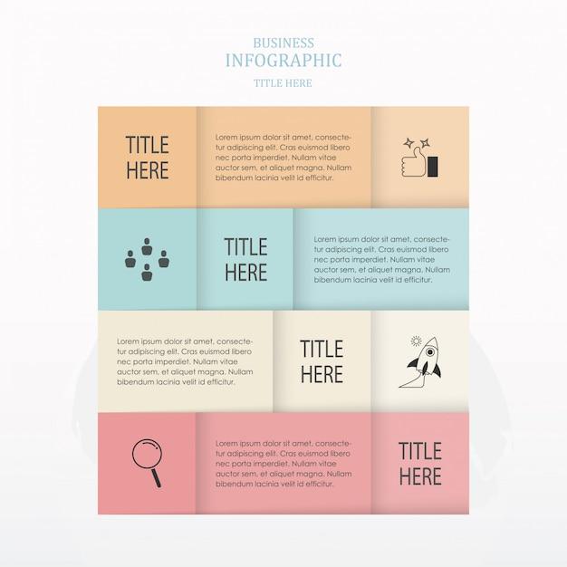 Infographics de placa quadrada Vetor Premium