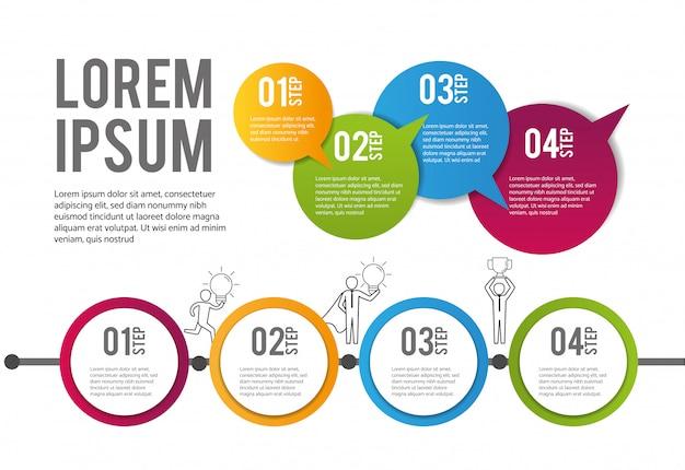 Informação de dados de estratégia de plano de infográfico Vetor Premium