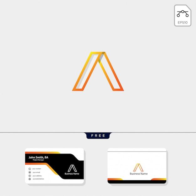 Inicial um modelo de logotipo mínimo Vetor Premium