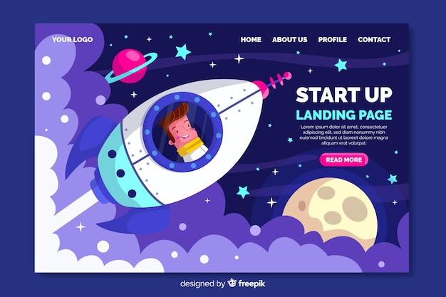 Iniciar página de destino da empresa Vetor grátis