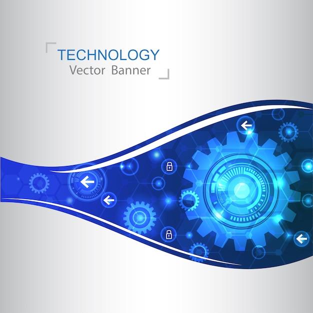 Inovação de tecnologia de fundo moderno conceito de design. Vetor Premium