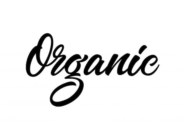 Inscrição caligráfica orgânica Vetor grátis
