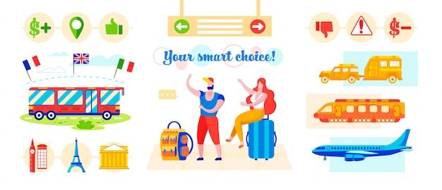Inscrição você escolha inteligente! ilustração vetorial. Vetor Premium