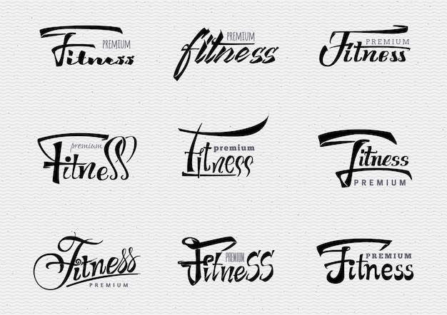 Insígnia premium de fitness Vetor Premium