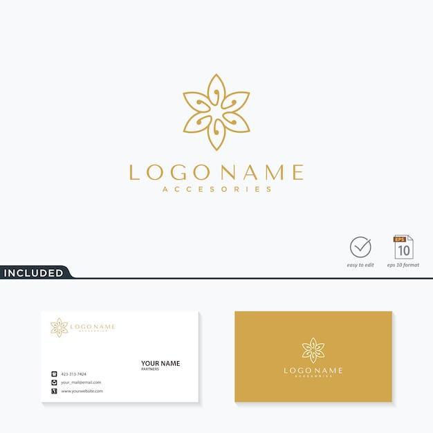 Inspiração abstrata do logotipo da flor Vetor Premium