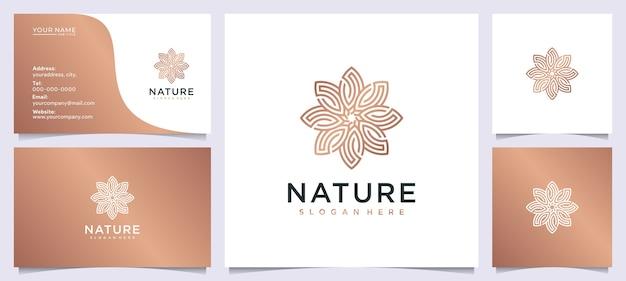 Inspiração de design de logotipo de beleza de flores para salão de beleza Vetor Premium