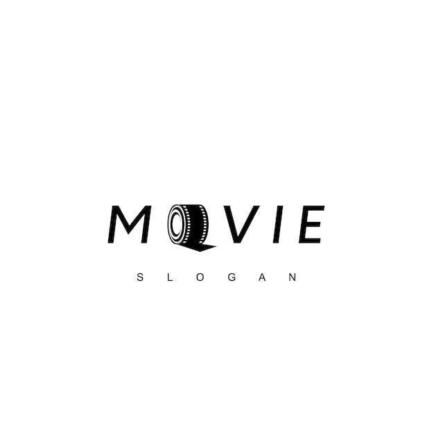 Inspiração de design de logotipo de filme de rolo Vetor Premium