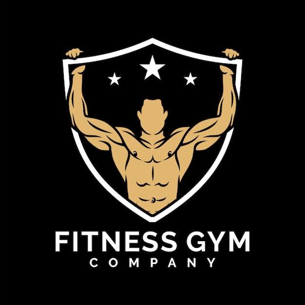 Inspiração de design de logotipo de ginásio fitness Vetor Premium