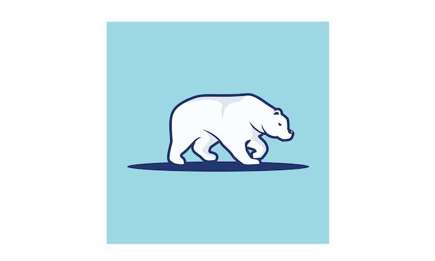 Inspiração de design de logotipo de urso polar Vetor Premium