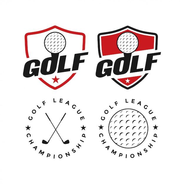 Inspiração de design gráfico de vetor de esporte golfe Vetor Premium