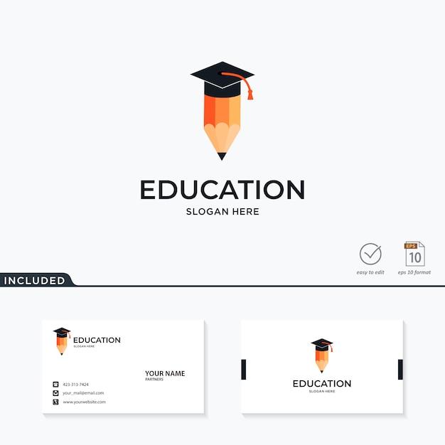 Inspiração do logotipo da educação Vetor Premium