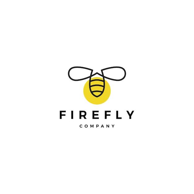 Inspirações de design do firefly logotipo vector ícone ilustração Vetor Premium