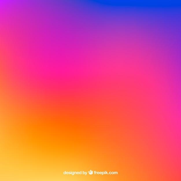Instagram fundo em cores gradientes Vetor grátis