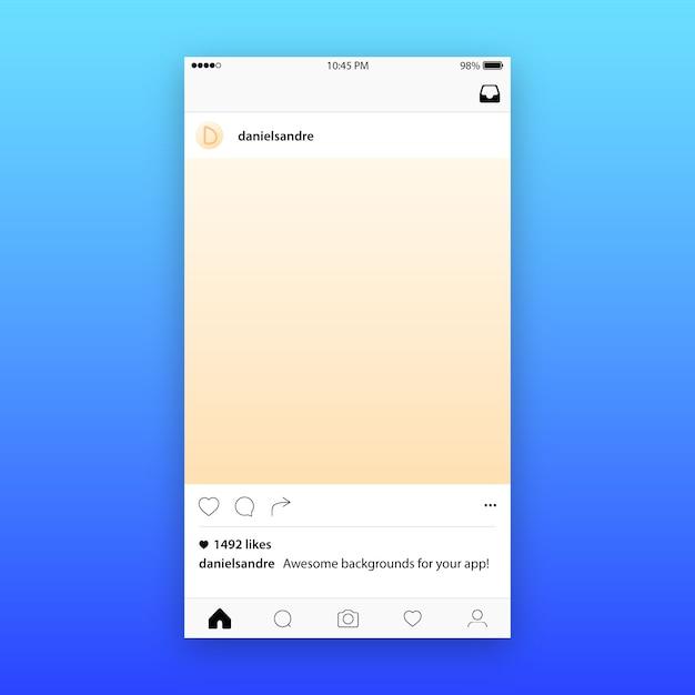 Instagram Post Template Maquete | Baixar Vetores Premium
