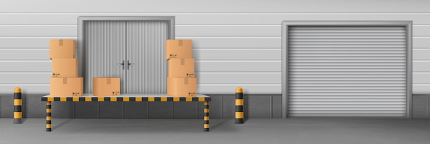 Instalação de negócios de armazenamento automático Vetor grátis
