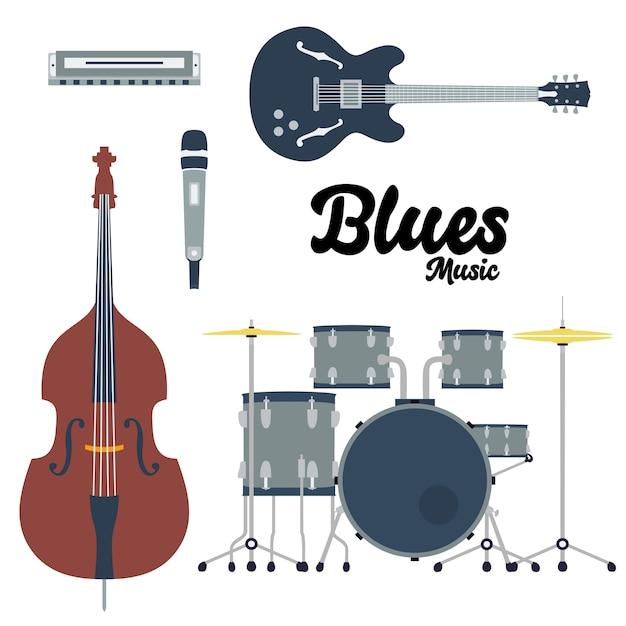 Instrumento musical Vetor Premium