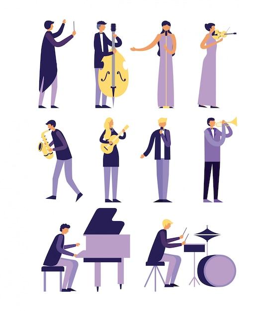 Instrumentos de música Vetor grátis