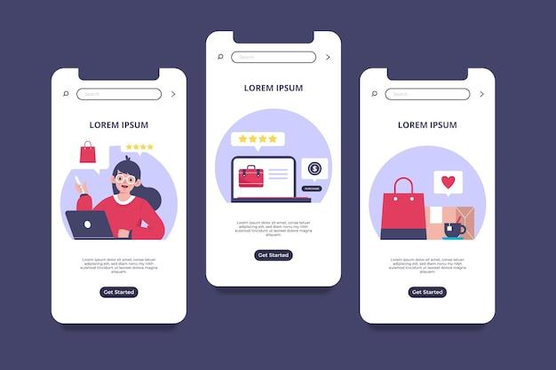 Interface de conceito online de compra Vetor Premium