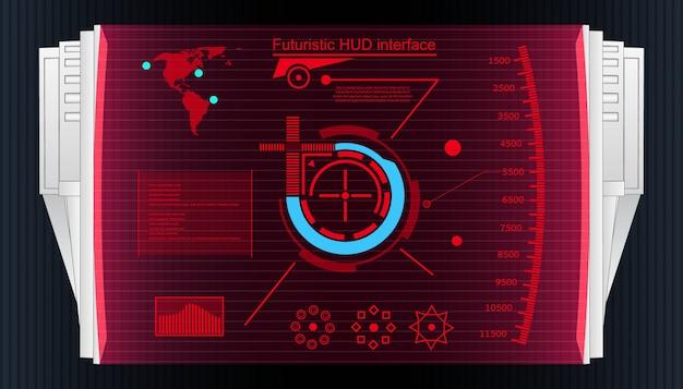 Interface de usuário futurista toque fundo hud. Vetor Premium