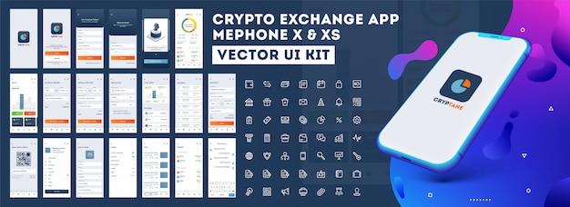 Interface do aplicativo móvel. Vetor Premium