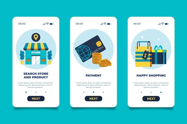 Interface do aplicativo online de compra Vetor Premium