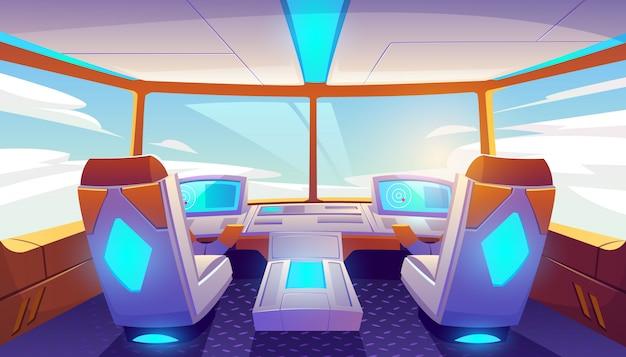 Interior de cabine de avião vazio Vetor grátis