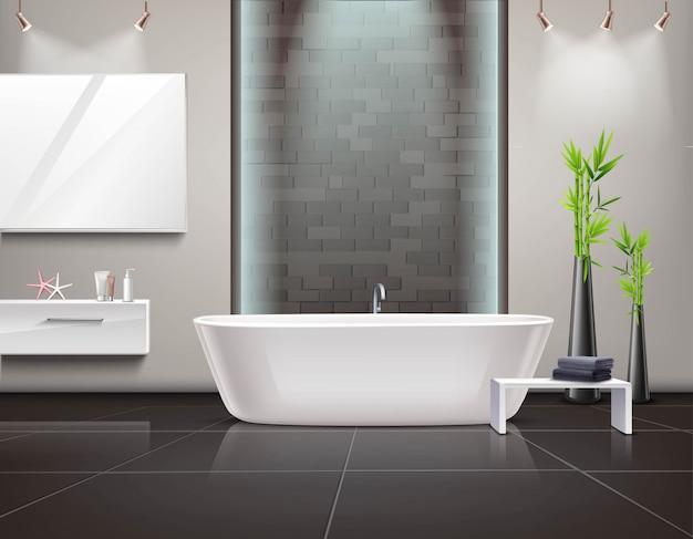 Interior do banheiro realista Vetor grátis