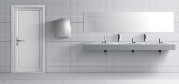 Interior do quarto lavatório público Vetor grátis