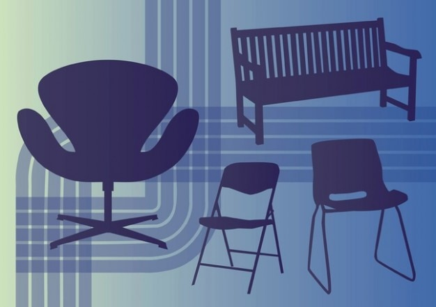 Interior vetores de design Vetor grátis