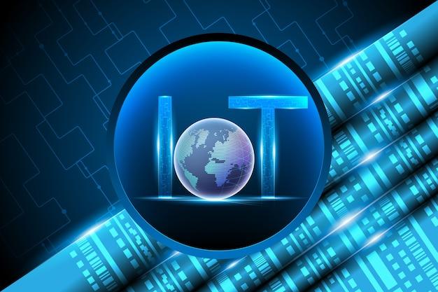 Internet das coisas (iot) e rede de dados Vetor Premium
