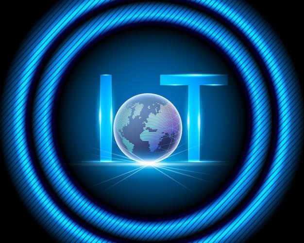 Internet das coisas (iot) Vetor Premium
