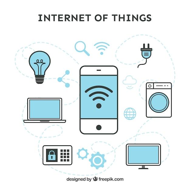 Internet do conjunto de coisas Vetor grátis