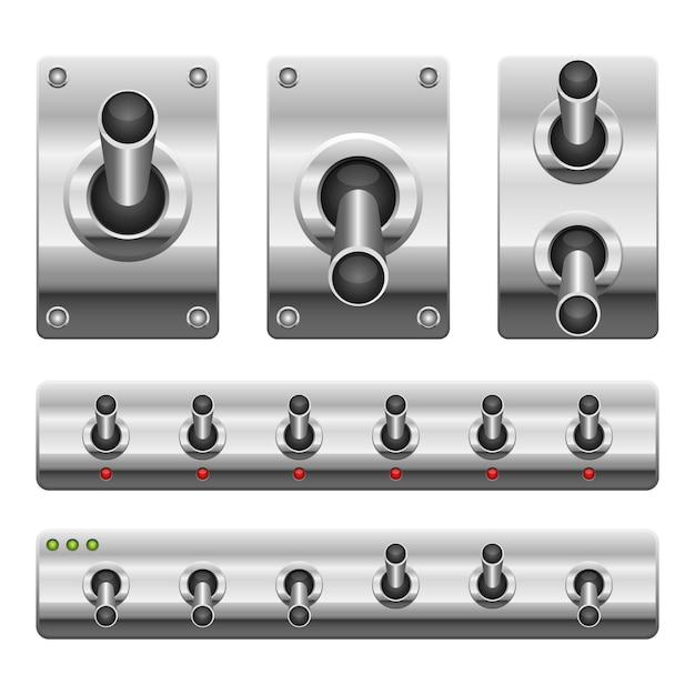Interruptor de ligar e desligar isolado Vetor Premium