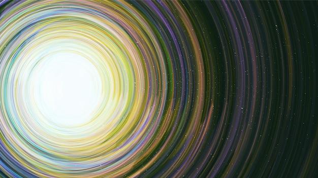 Interstella fantástica no fundo da galáxia com espiral da via láctea, universo e estrelado. Vetor Premium