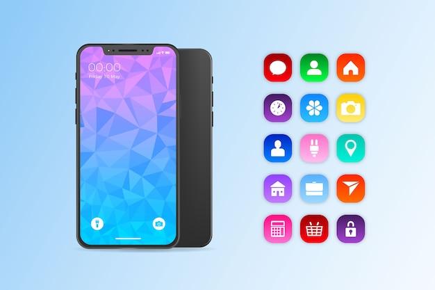 Iphone 11 em design realista Vetor grátis