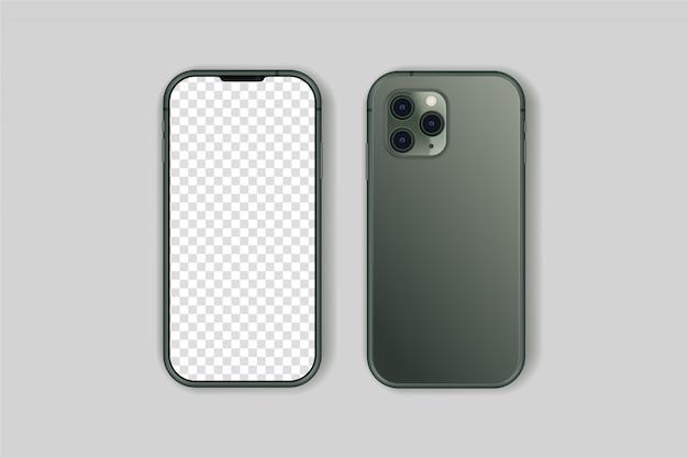 Iphone 11 pro isolado vetor de alta qualidade Vetor Premium