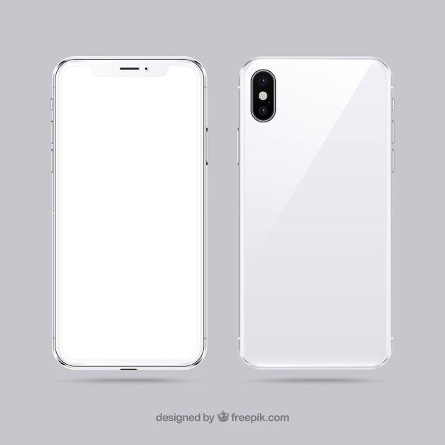 Iphone x com tela branca Vetor grátis